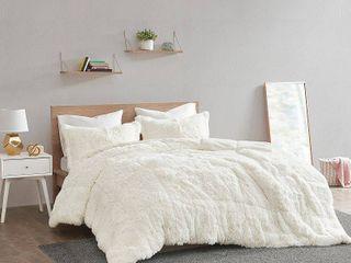 Intelligent Design leena Shaggy Faux Fur Comforter Set  Retail 89 99