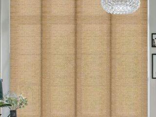 Go Dear Design  Adjustable Rail  Natural Woven  Pecan  Deluxe Adjustable Sliding Panel  45 8 86 A96