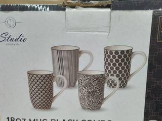 4 Piece Tall Coffee Mug Set   Color
