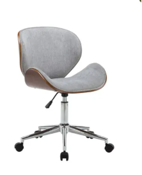 Porthos Home Adjustable Office Chair  Grey