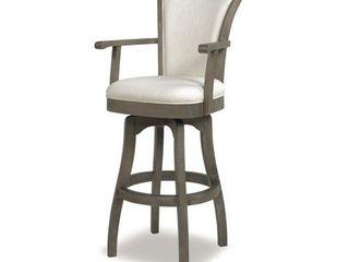 Jennifer Taylor Home Williams 30  Swivel Bar Stool with Armrests  Natural White