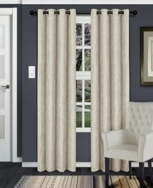 Impressions Slater Blackout Curtain Set with Grommet Header