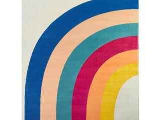Penelope Rainbow Print Indoor Outdoor Area Rug Retail 83 99