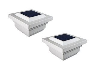 Classy Caps 4x4 PVC Regal Solar Post Cap  Set of 2