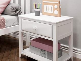 Max Wood Furniture White Night Stand Model   180001 002
