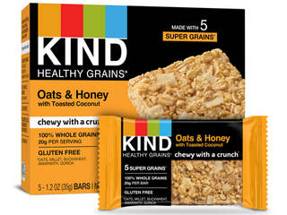Kind OATS   HONEY WITH TOASTED COCONUT GRANOlA BARS EXP 1 18 2021