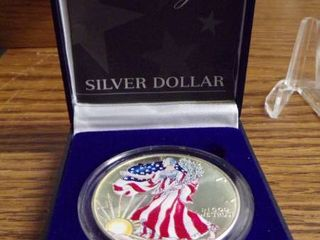 1999 SIlVER EAGlE UNC  COlORED