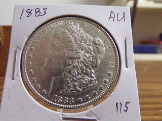 1883 MORGAN DOllAR AU