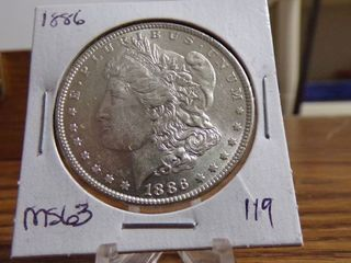 1886 MORGAN DOllAR MS63