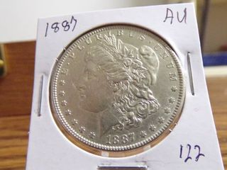 1887 MORGAN DOllAR AU