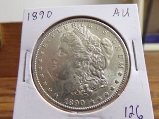 1890 MORGAN DOllAR AU