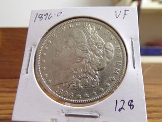 1896 O MORGAN DOllAR VF