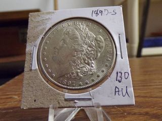 1897 S MORGAN DOllAR AU