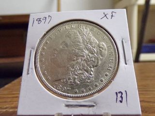 1897 MORGAN DOllAR XF