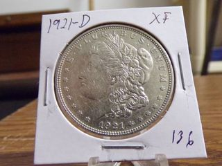 1921 D MORGAN DOllAR   XF