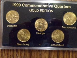 1999 STATE QUARTERS GOlD EDITION