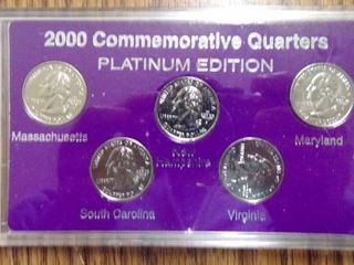 2000 STATE QUARTERS PlATINUM EDITION