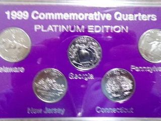 1999 STATE QUARTERS PlATINUM EDITION