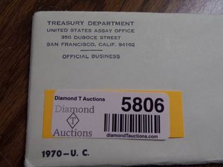1970 UNCIRCUlATED COIN SET   UNOPENED