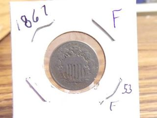 1867 SHIElD NICKEl F