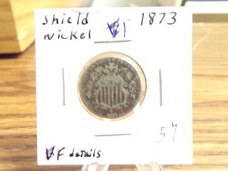 1873 SHIElD NICKEl F
