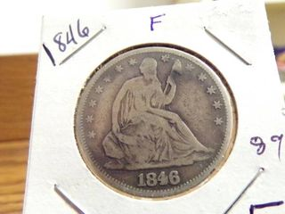 1846 SEATED lIBERTY HAlF F