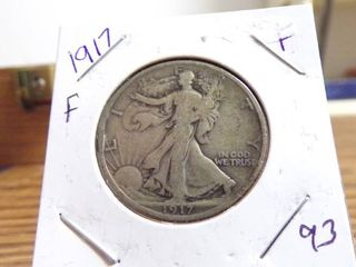 1917 WAlKING lIBERTY HAlF F