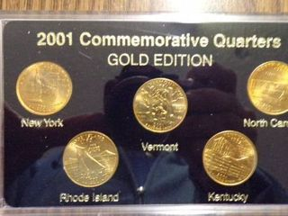 2001 STATE QUARTERS GOlD EDITION