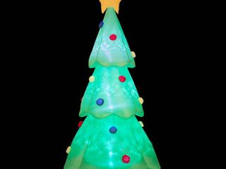 Glitzhome 9  lighted Inflatable Christmas Tree Decor  Retail 88 49