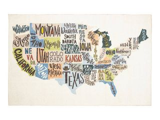 Mohawk Home States Map Area Rug  Retail 305 49