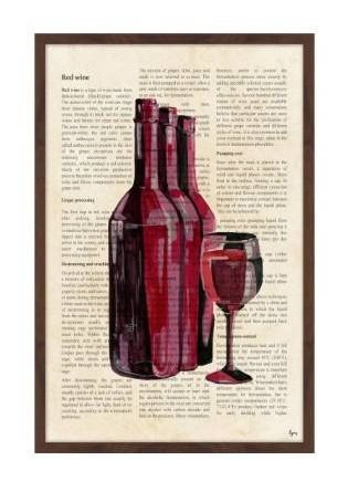 Marmont Hill   Handmade Red Wine History Framed Print   24 x 36