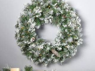 Artificial Wreath   2 Foot  Spruce Christmas Wreath 50 Warm White lED lights by Christopher Knight Home   led clear