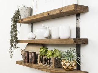 Del Hutson Designs Industrial Grace Three Tier Floating Shelves  Retail 81 48