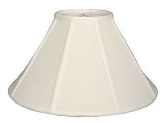Royal Designs Empire lamp Shade  linen White  8 x 22 x 13 25  Retail 145 49