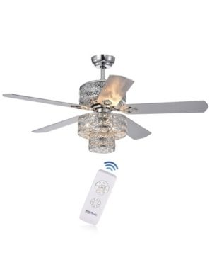 Empire Trois 52 inch Silver Chandelier Ceiling Fan with 2 Blade Colors  Retail 309 99
