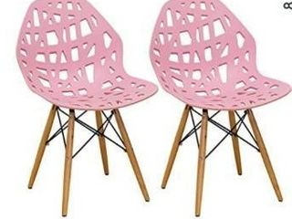 Mod Made Modern Stencil Cut Out Eiffel Dining Side Chair  Set of 2