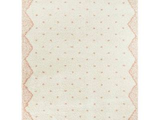 5 3  x 7    Pink  Crivelli Moroccan Shag Area Rug  Retail 136 49