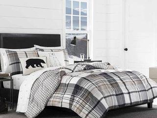 Black Plaid Normandy Comforter Set  King    Eddie Bauer