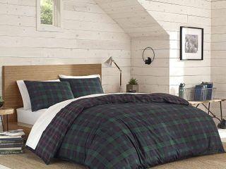Eddie Bauer Woodland Tartan Green Comforter Set  Full Queen
