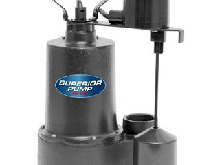 Superior Pump 1 3 HP Cast Iron Submersible Sump Pump