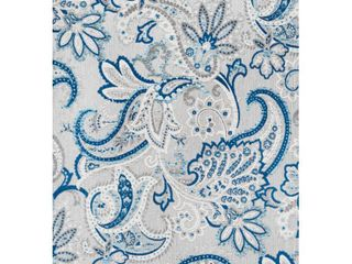 JONATHAN Y Gordes Paisley High low light Gray Blue 4 ft  x 6 ft  Indoor Outdoor Area Rug