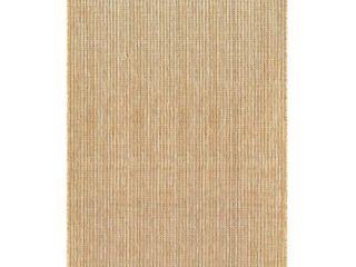 liora Manne Carmel Textured Stripe Indoor Outdoor Rug  Beig Green  6 5X9 Ft