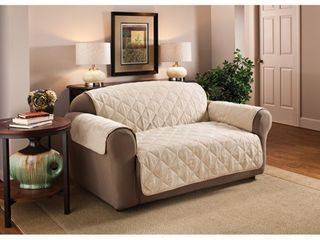 Innovative Textile Solutions 1 Piece Faux Suede Xl Sofa Furniture Cover Slipcover  Natural