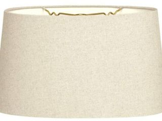 Royal Designs Shallow Oval Hardback lamp Shade  linen Beige  10x 6 5 x 5 5   set of 2