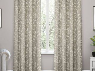 Set of 2 84 x52  Kilberry Woven Blackout Grommet Top Window Curtain Panel light Gray   Exclusive Home