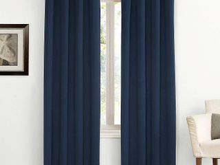 95 x54  Kenneth Energy Saving Blackout Grommet Top Curtain Panel Navy Blue   Sun Zero   Set of 2