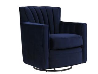 Copper Grove Hasselt Velvet Swivel Arm Chair  Retail  449 99