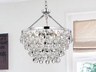 As Is   Acamar 5 light Crystal Chandelier  Retail 139 49