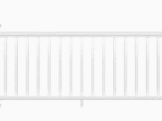 As Is   Deckorators Grab and Go 8 ft x 2 75 in x 3 ft White Composite Deck Rail Kit with Balusters  27 Piece and Assembly Required