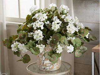 Geranium Faux Floral Urn Filler by Valerie